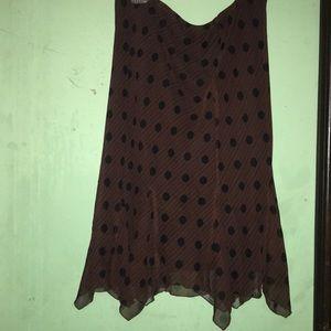 Brown Polka Dot Skirt